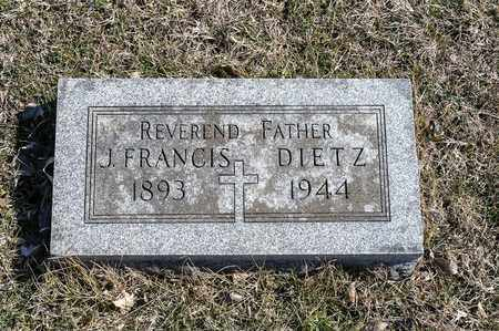 DIETZ, J FRANCIS - Richland County, Ohio | J FRANCIS DIETZ - Ohio Gravestone Photos