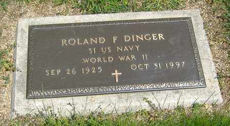 DINGER, ROLAND F. - Richland County, Ohio | ROLAND F. DINGER - Ohio Gravestone Photos