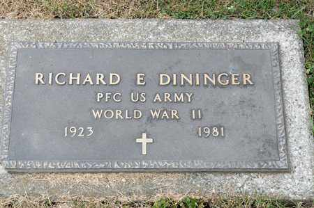DININGER, RICHARD E - Richland County, Ohio | RICHARD E DININGER - Ohio Gravestone Photos