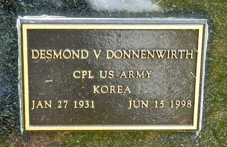 DONNENWIRTH, DESMOND V - Richland County, Ohio | DESMOND V DONNENWIRTH - Ohio Gravestone Photos