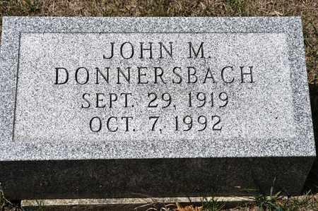 DONNERSBACH, JOHN M - Richland County, Ohio | JOHN M DONNERSBACH - Ohio Gravestone Photos