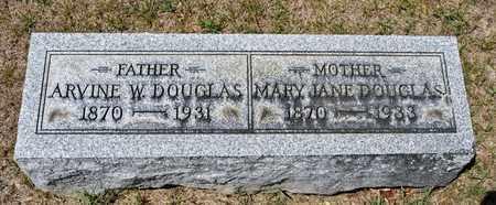 DOUGLAS, ARVINE W - Richland County, Ohio | ARVINE W DOUGLAS - Ohio Gravestone Photos