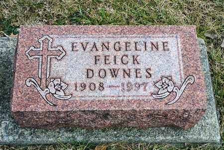 FEICK DOWNES, EVANGELINE - Richland County, Ohio | EVANGELINE FEICK DOWNES - Ohio Gravestone Photos