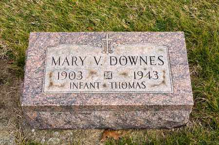 DOWNES, MARY V - Richland County, Ohio | MARY V DOWNES - Ohio Gravestone Photos