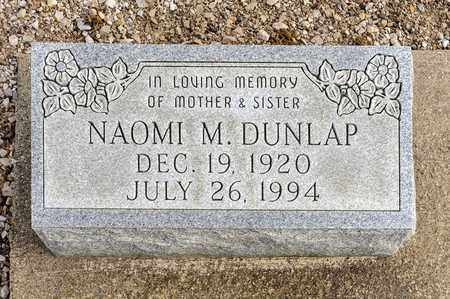 DUNLAP, NAOMI M - Richland County, Ohio | NAOMI M DUNLAP - Ohio Gravestone Photos