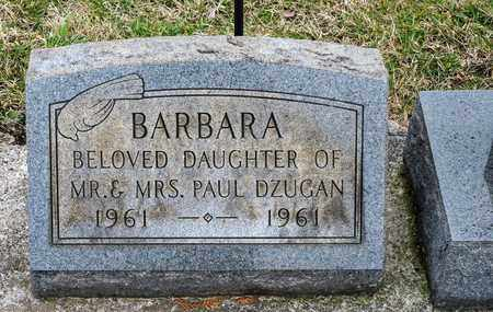 DZUGAN, BARBARA - Richland County, Ohio | BARBARA DZUGAN - Ohio Gravestone Photos