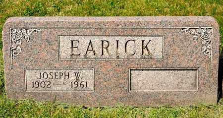 EARICK, JOSEPH W - Richland County, Ohio | JOSEPH W EARICK - Ohio Gravestone Photos