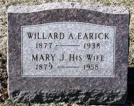 EARICK, WILLARD A - Richland County, Ohio | WILLARD A EARICK - Ohio Gravestone Photos