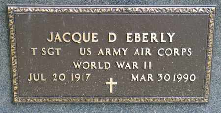 EBERLY, JACQUE D - Richland County, Ohio | JACQUE D EBERLY - Ohio Gravestone Photos