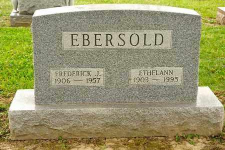 EBERSOLD, FREDERICK J - Richland County, Ohio | FREDERICK J EBERSOLD - Ohio Gravestone Photos