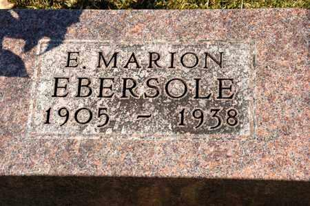 EBERSOLE, E MARION - Richland County, Ohio | E MARION EBERSOLE - Ohio Gravestone Photos