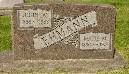 EHMANN, MATIE M - Richland County, Ohio | MATIE M EHMANN - Ohio Gravestone Photos