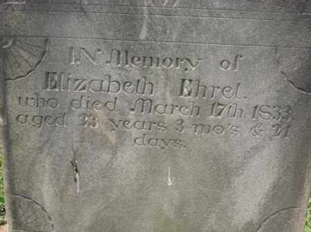 EHREL., ELIZABETH - Richland County, Ohio | ELIZABETH EHREL. - Ohio Gravestone Photos