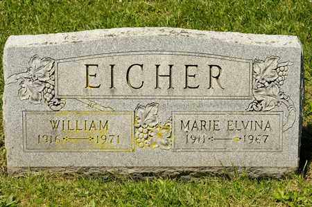 EICHER, MARIE ELVINA - Richland County, Ohio | MARIE ELVINA EICHER - Ohio Gravestone Photos