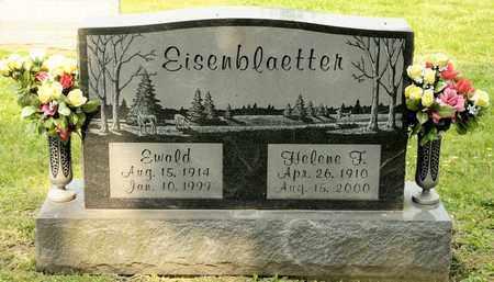 EISENBLAETTER, EWALD - Richland County, Ohio | EWALD EISENBLAETTER - Ohio Gravestone Photos