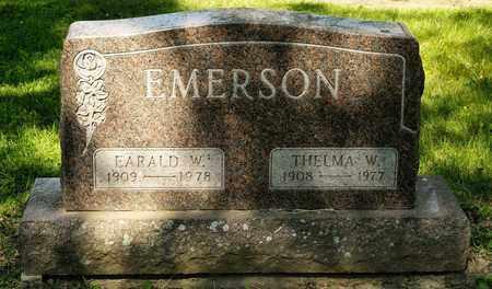 EMERSON, EARALD W - Richland County, Ohio | EARALD W EMERSON - Ohio Gravestone Photos