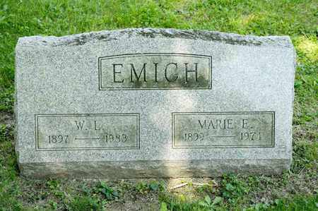 EMICH, W L - Richland County, Ohio | W L EMICH - Ohio Gravestone Photos