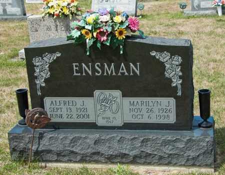 ENSMAN, ALFRED J - Richland County, Ohio | ALFRED J ENSMAN - Ohio Gravestone Photos