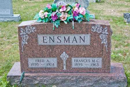 ENSMAN, FRANCES M C - Richland County, Ohio | FRANCES M C ENSMAN - Ohio Gravestone Photos