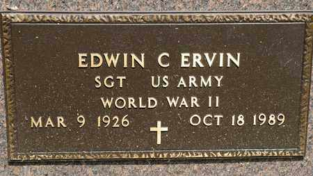 ERVIN, EDWIN C - Richland County, Ohio | EDWIN C ERVIN - Ohio Gravestone Photos