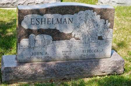 ESHELMAN, JOHN A - Richland County, Ohio | JOHN A ESHELMAN - Ohio Gravestone Photos