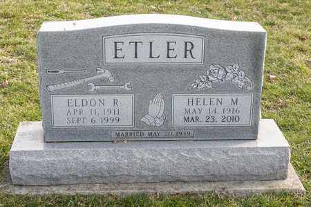 ETLER, ELDON R - Richland County, Ohio | ELDON R ETLER - Ohio Gravestone Photos
