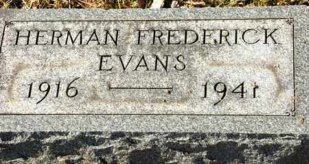EVANS, HERMAN FREDERICK - Richland County, Ohio | HERMAN FREDERICK EVANS - Ohio Gravestone Photos