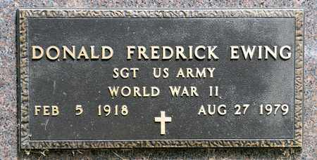 EWING, DONALD FREDRICK - Richland County, Ohio | DONALD FREDRICK EWING - Ohio Gravestone Photos
