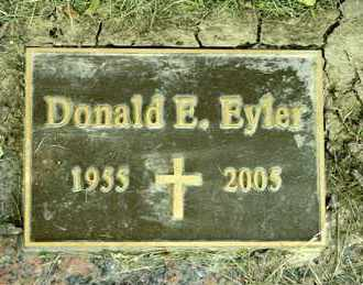 EYLER, DONALD E - Richland County, Ohio | DONALD E EYLER - Ohio Gravestone Photos