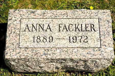 FACKLER, ANNA - Richland County, Ohio | ANNA FACKLER - Ohio Gravestone Photos