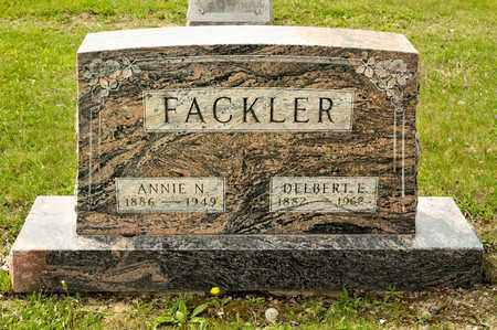 FACKLER, ANNIE N - Richland County, Ohio | ANNIE N FACKLER - Ohio Gravestone Photos