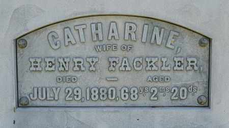FACKLER, CATHARINE - Richland County, Ohio | CATHARINE FACKLER - Ohio Gravestone Photos
