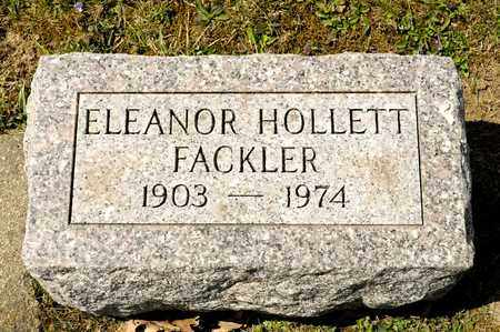 HOLLETT FACKLER, ELEANOR - Richland County, Ohio | ELEANOR HOLLETT FACKLER - Ohio Gravestone Photos