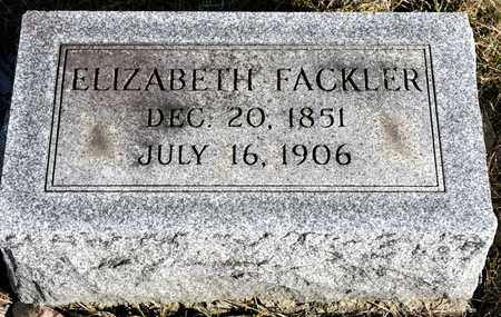 FACKLER, ELIZABETH - Richland County, Ohio | ELIZABETH FACKLER - Ohio Gravestone Photos