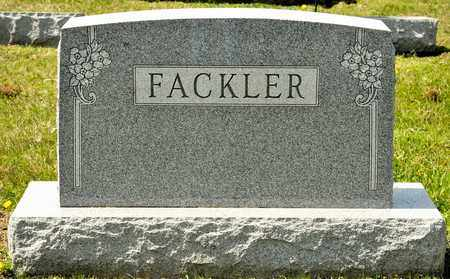 FACKLER, PORTER - Richland County, Ohio | PORTER FACKLER - Ohio Gravestone Photos