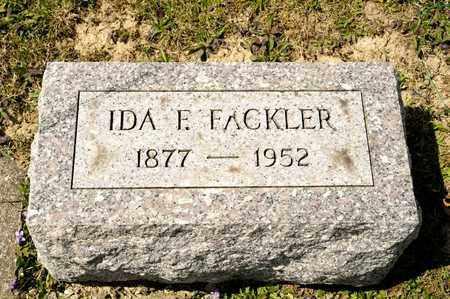 FACKLER, IDA F - Richland County, Ohio | IDA F FACKLER - Ohio Gravestone Photos