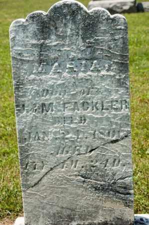 FACKLER, MARIA - Richland County, Ohio | MARIA FACKLER - Ohio Gravestone Photos