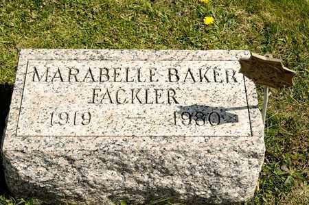 BAKER FACKLER, MARABELLE - Richland County, Ohio | MARABELLE BAKER FACKLER - Ohio Gravestone Photos