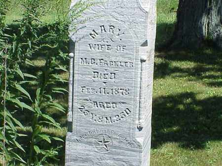 FACKLER, MARY - Richland County, Ohio | MARY FACKLER - Ohio Gravestone Photos