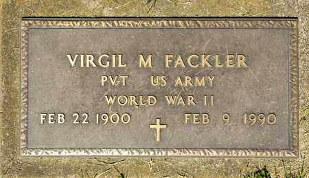 FACKLER, VIRGIL M - Richland County, Ohio | VIRGIL M FACKLER - Ohio Gravestone Photos