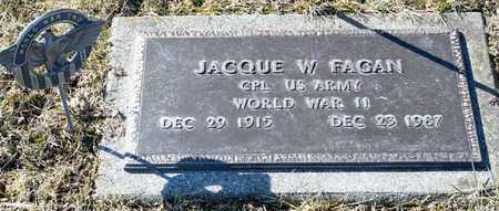 FAGAN, JACQUE W - Richland County, Ohio | JACQUE W FAGAN - Ohio Gravestone Photos
