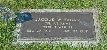 FAGAN, JACQUE W - Richland County, Ohio | JACQUE W FAGAN - Ohio Gravestone Photos