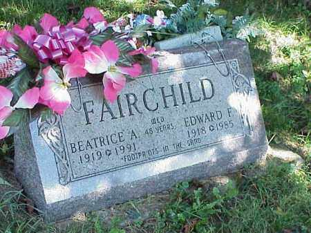 FAIRCHILD, EDWARD F. - Richland County, Ohio | EDWARD F. FAIRCHILD - Ohio Gravestone Photos