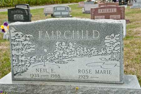 FAIRCHILD, NEIL E - Richland County, Ohio | NEIL E FAIRCHILD - Ohio Gravestone Photos