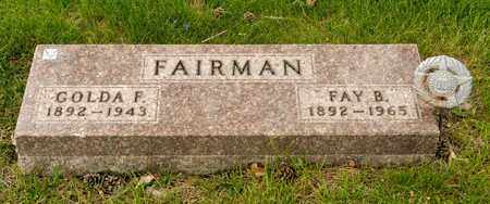 FAIRMAN, GOLDA F - Richland County, Ohio | GOLDA F FAIRMAN - Ohio Gravestone Photos