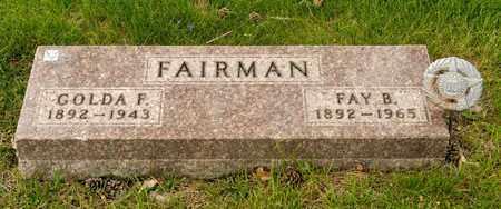 FAIRMAN, FAY B - Richland County, Ohio | FAY B FAIRMAN - Ohio Gravestone Photos