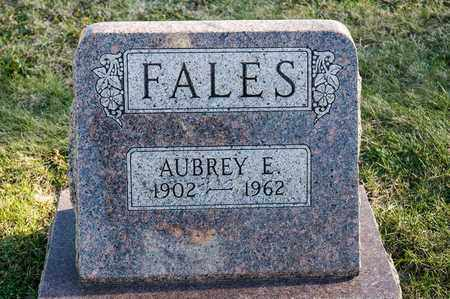 FALES, AUBREY E - Richland County, Ohio | AUBREY E FALES - Ohio Gravestone Photos