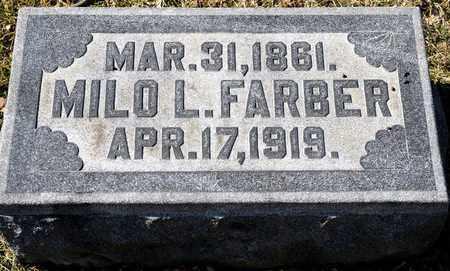 FARBER, MILO L - Richland County, Ohio   MILO L FARBER - Ohio Gravestone Photos