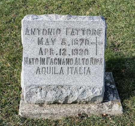 FATTORE, ANTONIO - Richland County, Ohio | ANTONIO FATTORE - Ohio Gravestone Photos