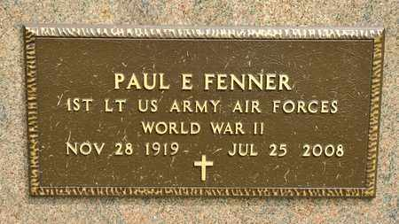 FENNER, PAUL E - Richland County, Ohio | PAUL E FENNER - Ohio Gravestone Photos